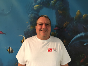 scuba equipment service technician mike bailey